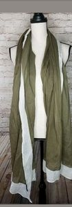Lafayette Collection Womens Scarf Large Olive